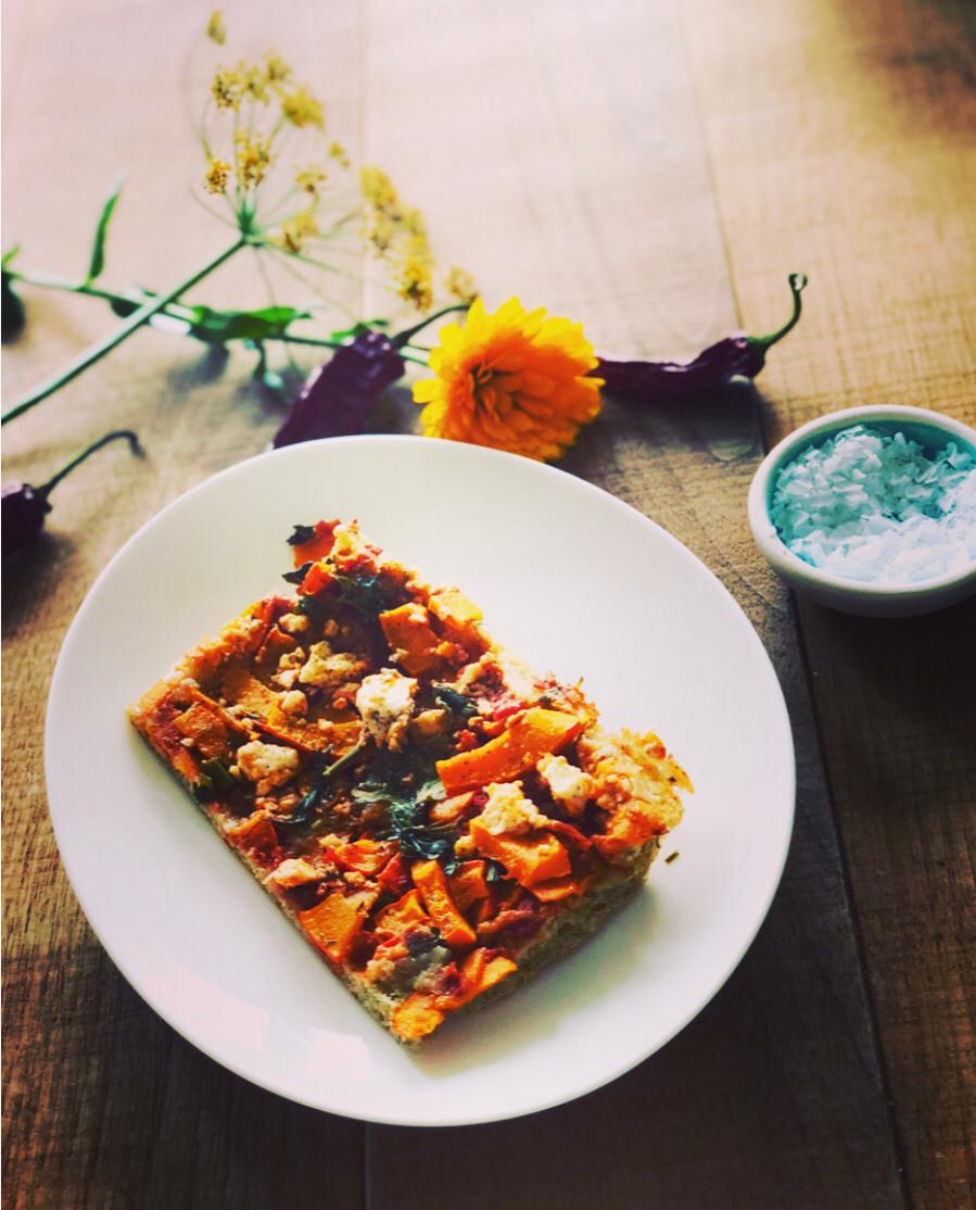 Kürbispizza – perfektes Herbst Soulfood, mit Dinkel