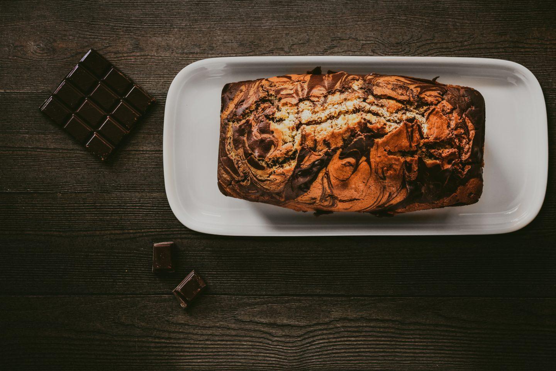 Saftiger Dinkel-Marmorkuchen mit Orange
